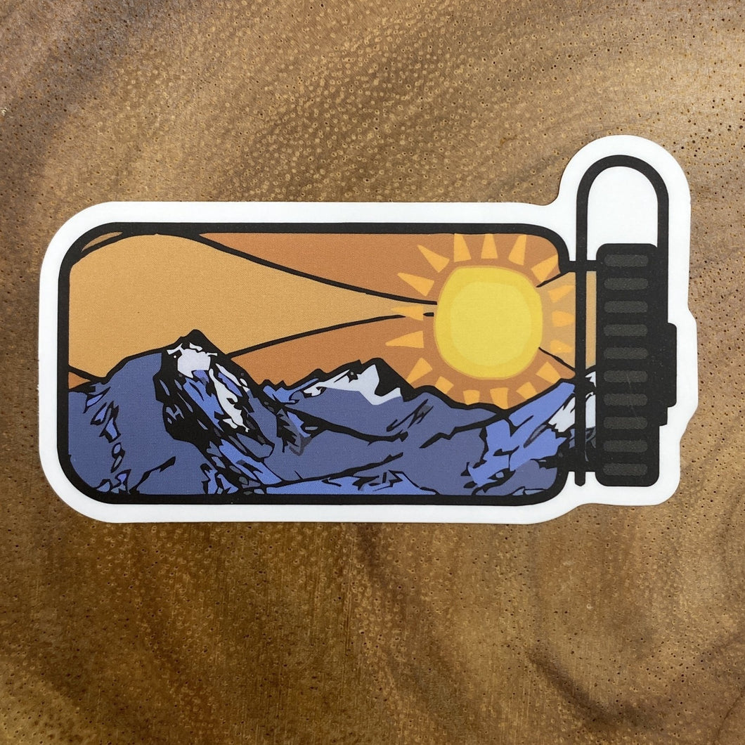 Waterbottle Mountain Sticker