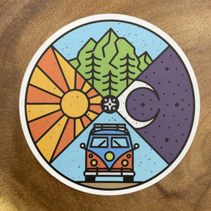 Circle Mountain Sticker