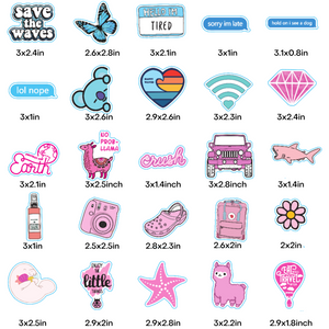 Multicolor Stickers 100 Pack