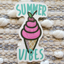 Load image into Gallery viewer, Ice Cream Summer Vibes Sticker