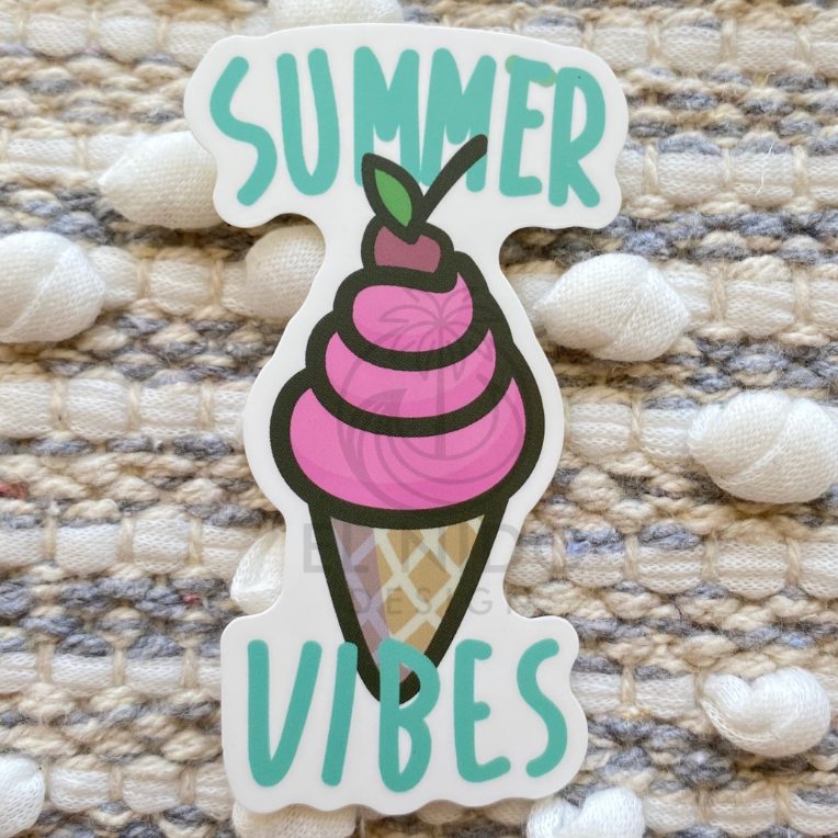 Ice Cream Summer Vibes Sticker