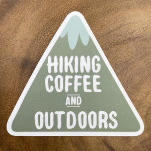 Hiking Coffee and Outdoors Sticker