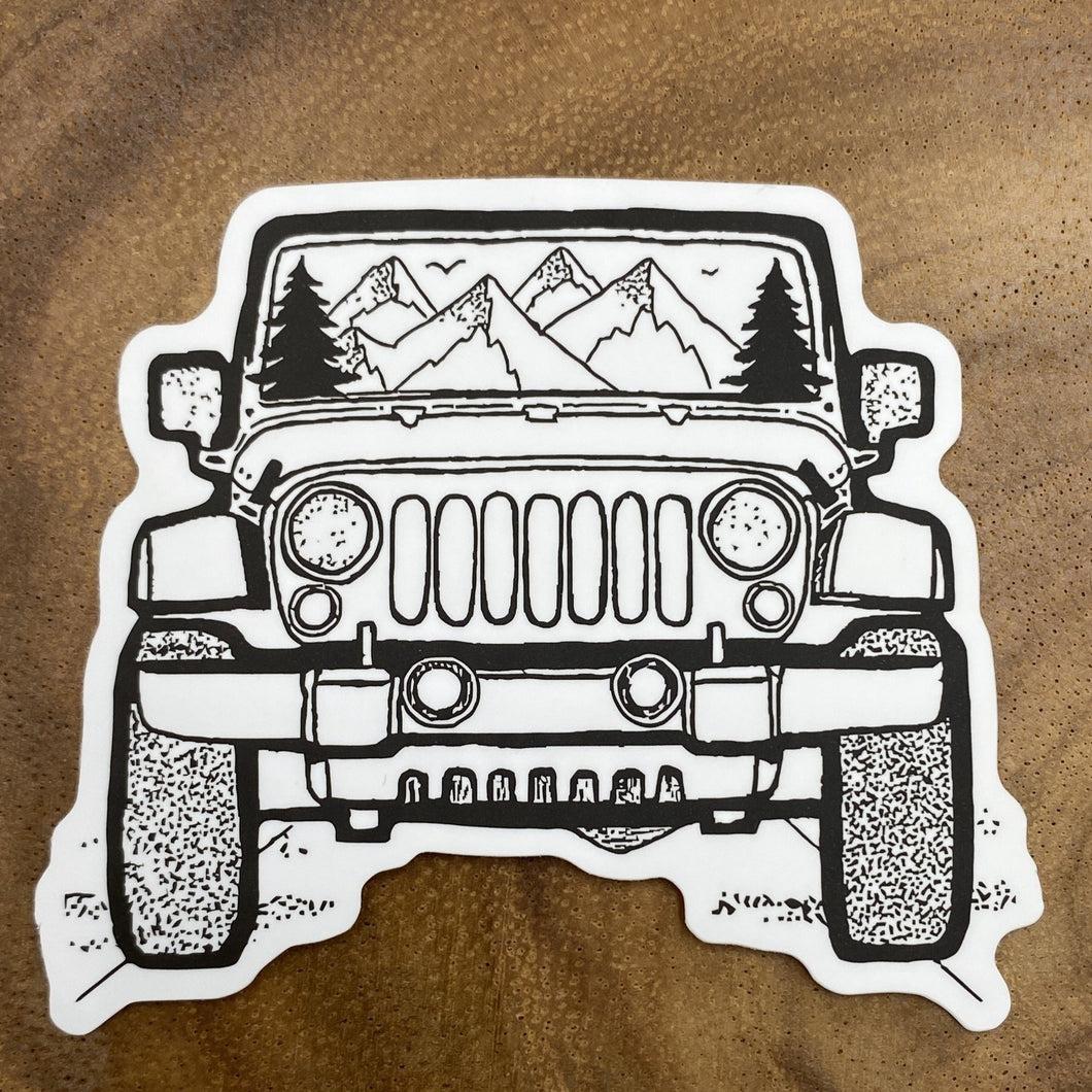 Mountain Jeep Sticker