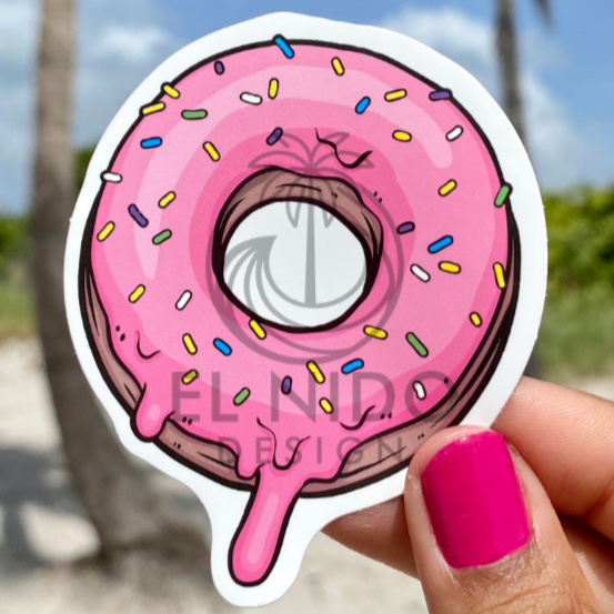 Pink donuts Sticker