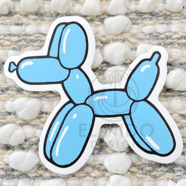 Blue Dog Sticker