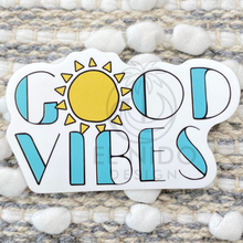 Load image into Gallery viewer, Blue Sun Good Vibes Sticker