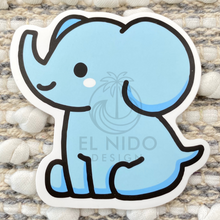 Load image into Gallery viewer, Blue Elephant Sticker