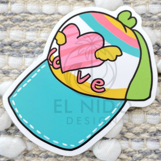Heart Cap Sticker