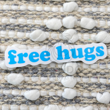 Load image into Gallery viewer, Blue Free Hugs Sticker