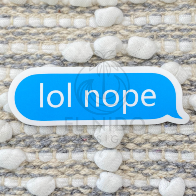 Blue Lol Nope Sticker
