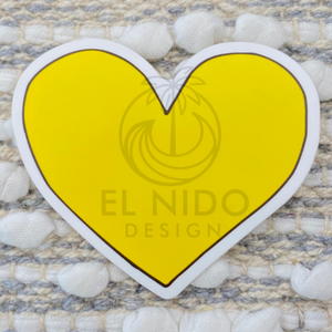 Yellow Heart Sticker