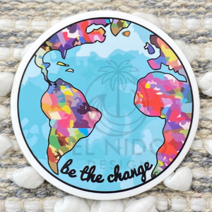 Be the Change Hearth Sticker