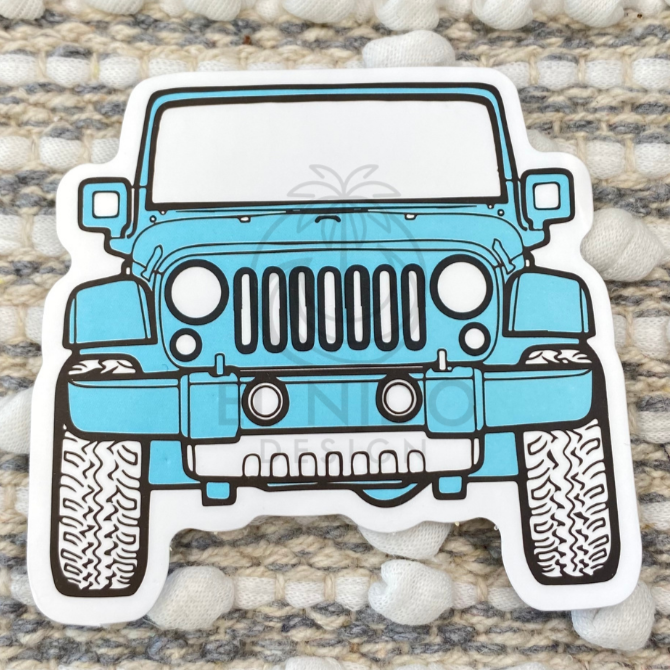 Blue Jeep Sticker
