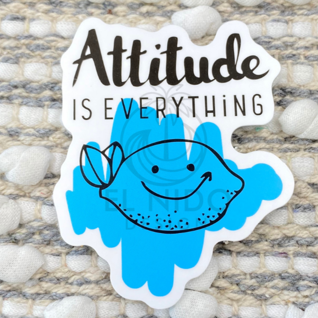 Blue attitude is everything Sticker