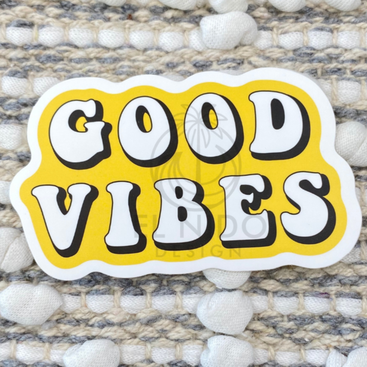 Yellow Good Vibes Sticker