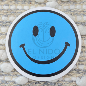 Blue Smile Sticker