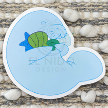 Load image into Gallery viewer, Blue Manatee Sticker
