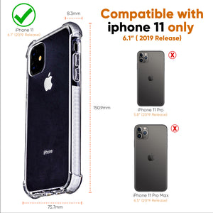 White and Clear Case Compatible with iPhone 11- Extra Shockproof Protection