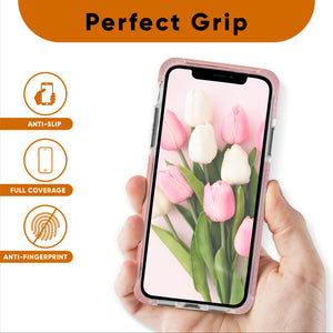 Pink and Clear Case Compatible with iPhone 11- Extra Shockproof Protection
