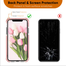 Load image into Gallery viewer, Pink and Clear Case Compatible with iPhone 11- Extra Shockproof Protection