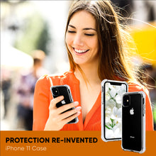 Load image into Gallery viewer, White and Clear Case Compatible with iPhone 11- Extra Shockproof Protection