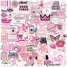 Load image into Gallery viewer, Pink Stickers 100 Pack