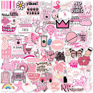 Pink Stickers 100 Pack
