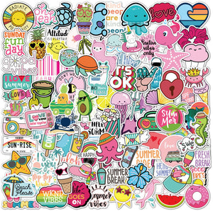 Beach Stickers 100 Pack