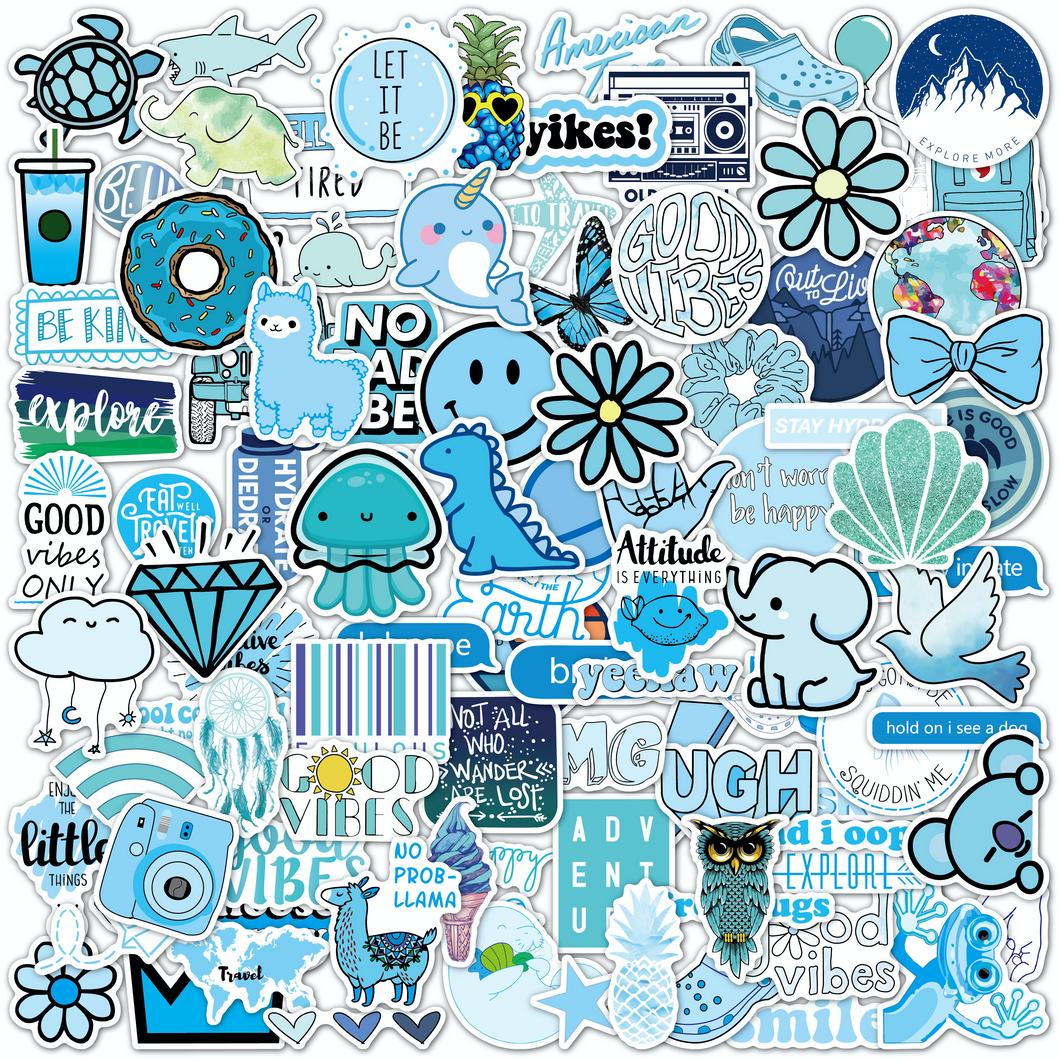 Blue Stickers 100 Pack