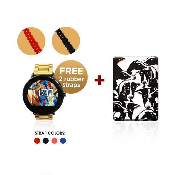 LoveMarie Fitness Watch with Free Rubber Straps + Powerbank (5,000mAh) Bundle