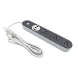 Cherry Home 3-USB Smart Extension Cord