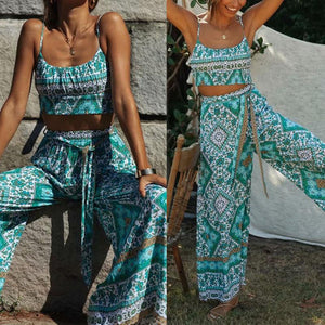 women's fashioh boho style two piece set