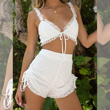 Load image into Gallery viewer, Sexy slim two-piece mesh splicing jumpsuit