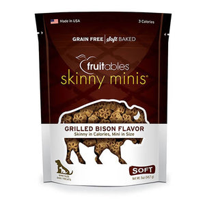 Skinny Minis Grilled Bison Chewy Dog Treats