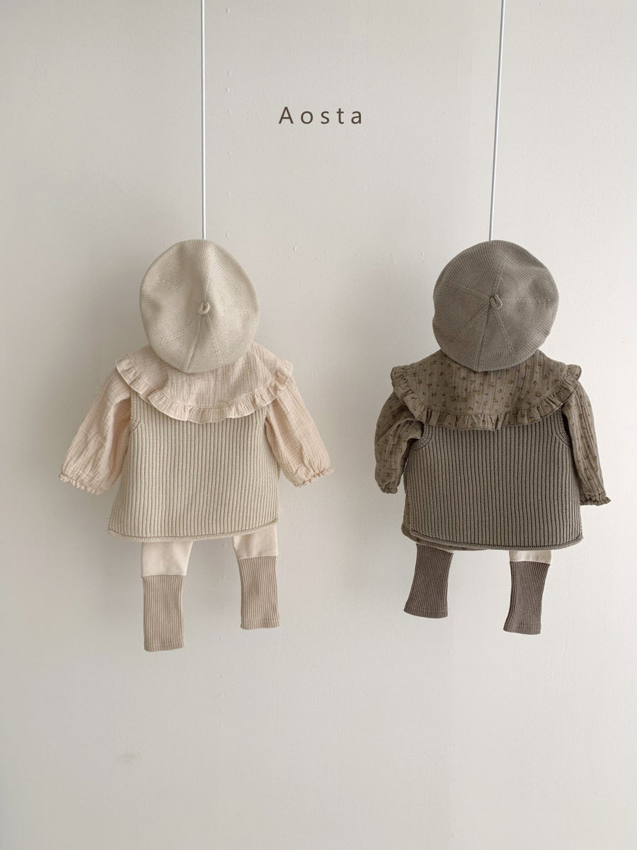 Aosta Knit Vest (3 colour options) - ooyoo