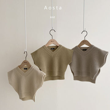 Aosta Mochi Knit Vest (3 colour options) - ooyoo
