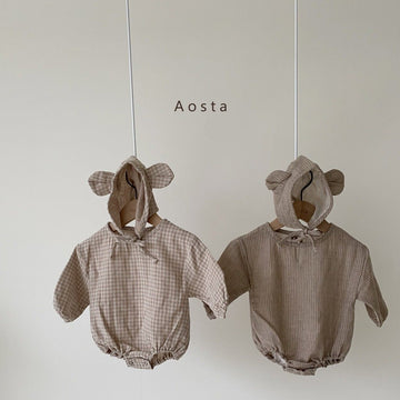 Aosta Sugarbear Romper with Bonnet (2 colour options) - ooyoo
