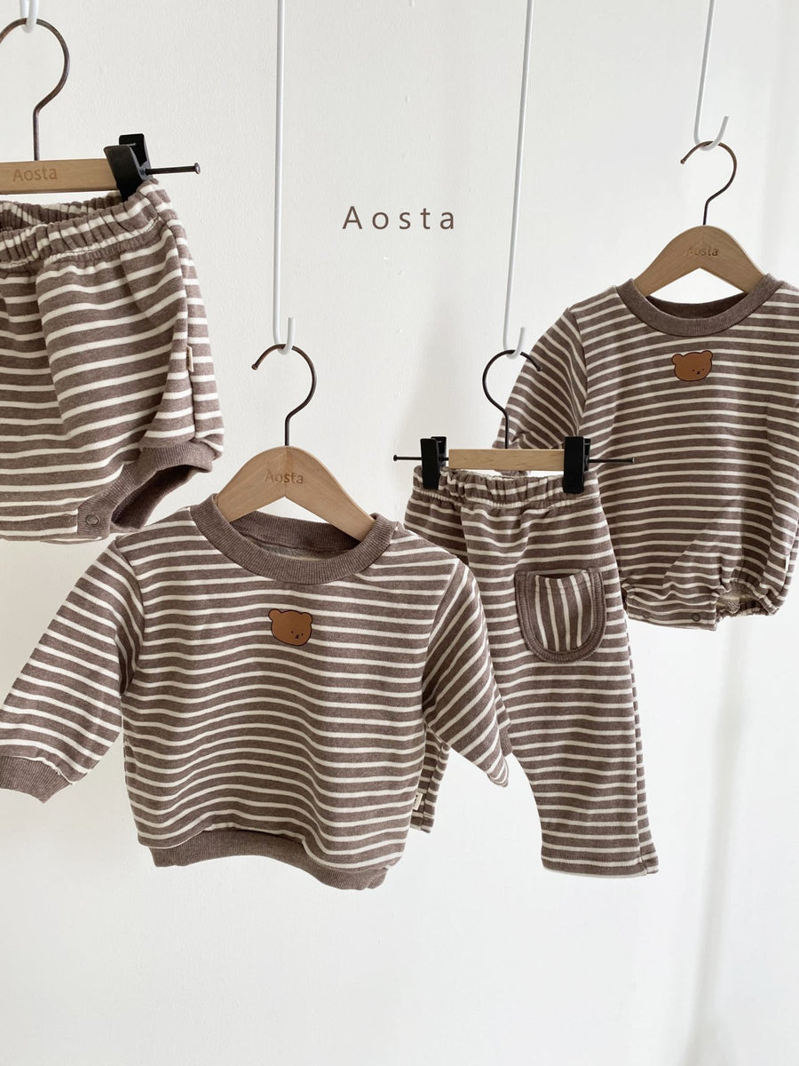 Aosta Tongtong Bear Romper (2 colour options) - ooyoo
