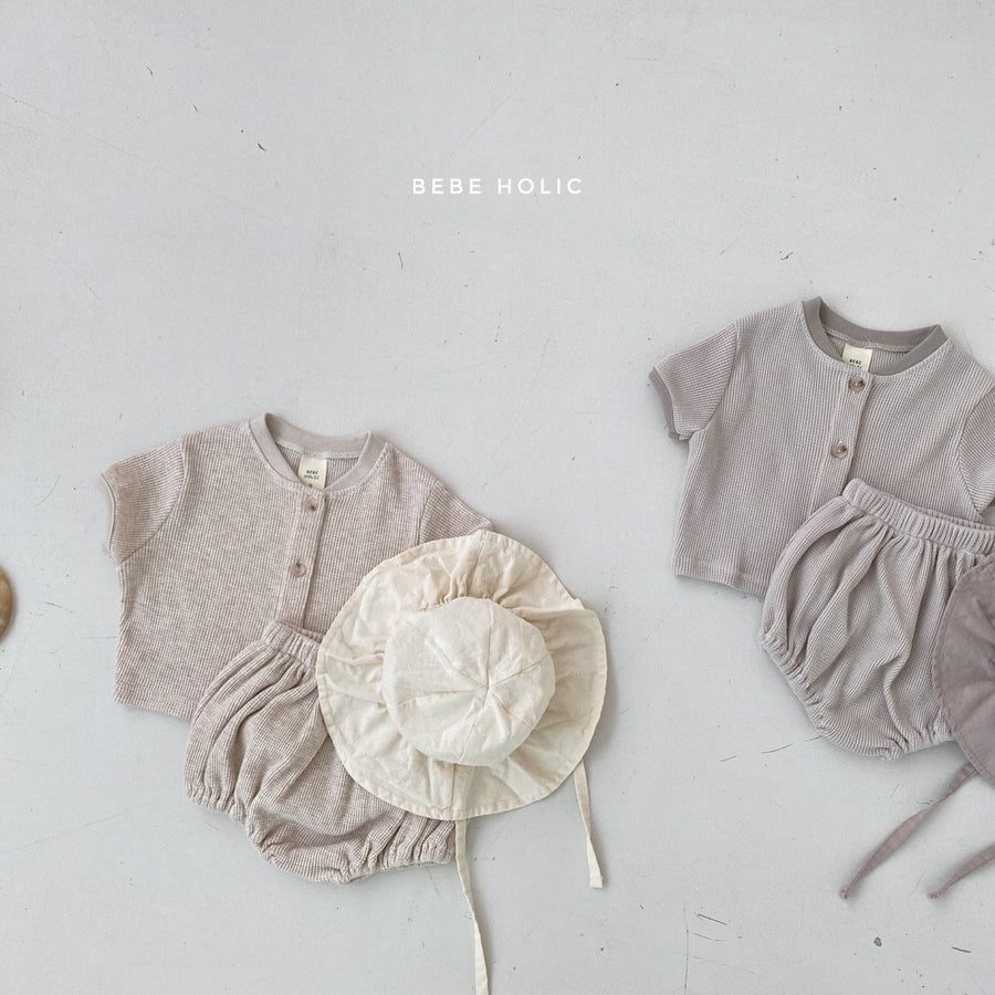 Bebeholic Button up Top and Bloomer Set (2 colour options) - ooyoo