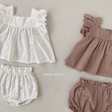 Bebeholic Daily Blouse and bloomer Set (2 colour options) - ooyoo