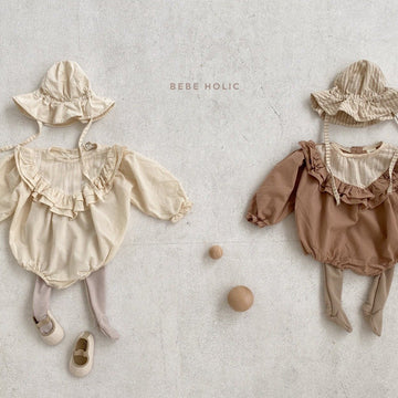 Bebeholic Frill Romper (2 colour options) - ooyoo