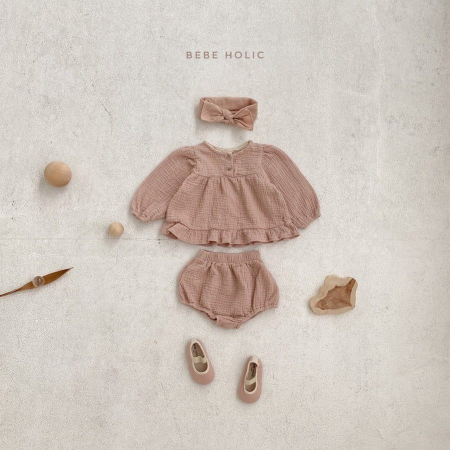 Bebeholic Lili Blouse and Bloomer Set (2 colour options) - ooyoo