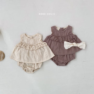 Bebeholic Soho Blouse and bloomer Set (2 colour options) - ooyoo