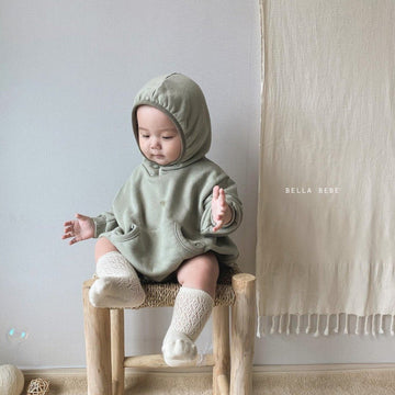 Bella Bambina Hooded Romper (2 colour options) - ooyoo