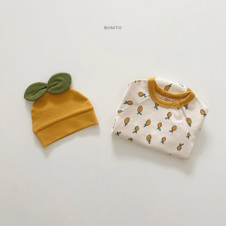Bonito Lemon Babygrow Set (2 colour options) - ooyoo
