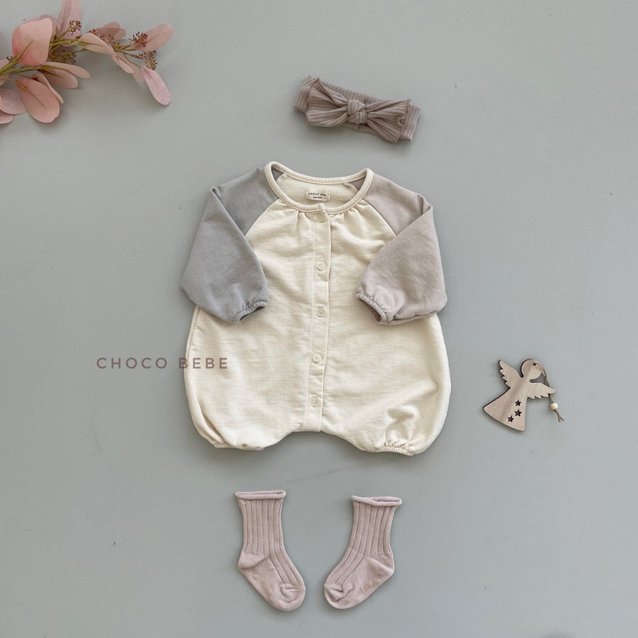 Chocobebe Colour Block Romper - ooyoo