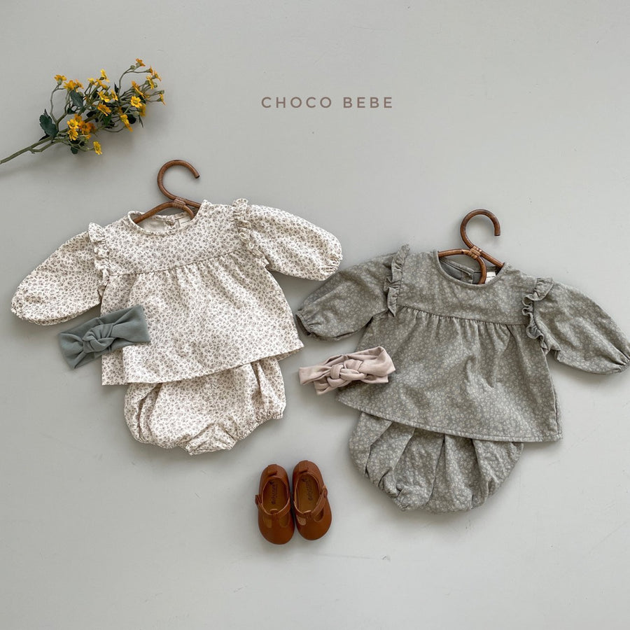 Chocobebe Frill Top and Bloomer Set - ooyoo