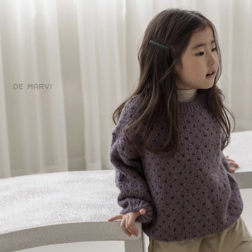 De Marvi Jacquard Knit (Mulberry) - ooyoo