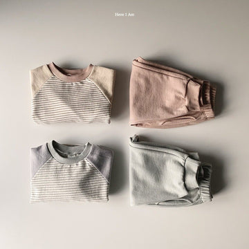 Here I Am Striped Colour Block Set (2 colour options) - ooyoo