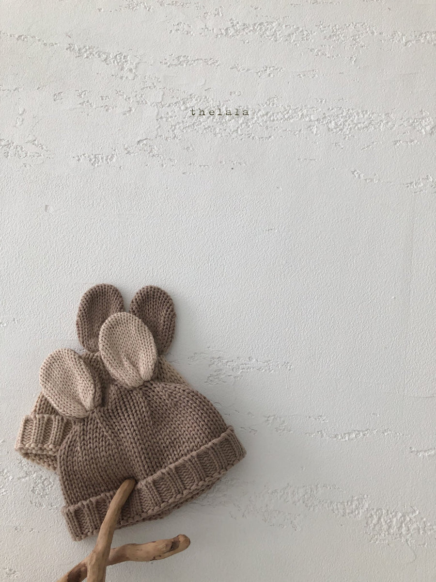 Lala Bunny Knitted Beanie(2 colour options) - ooyoo